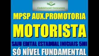#1 MPSP MOTORISTA CONCURSO PÚBLICO PROVAS QUESTÕES SIMULADO CURSO APOSTILA AUXILIAR PROMOTORIA SP