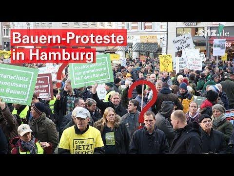 Bauern-Protest in Hamburg: Mit dem Trecker in die Gro ...