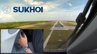 Download Video Sukhoi SuperJet 100 Sidestick Operation, Dual camera view. MP3 3GP MP4