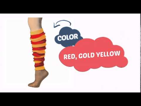 tubered - See our great product here http://www.clownantics.com/leg-warmers-22/leg-warmer-striped-tube-red/gold-22?utm_source=youtube&utm_medium=video&utm_campaign=tre...