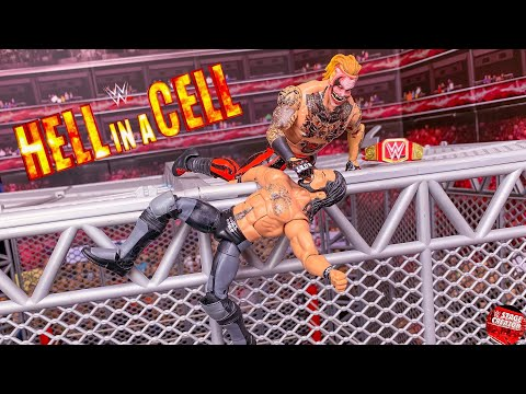 SETH ROLLINS VS THE FIEND BRAY WYATT HELL IN A CELL ACTION FIGURE MATCH! WWE UNIVERSAL CHAMPIONSHIP!