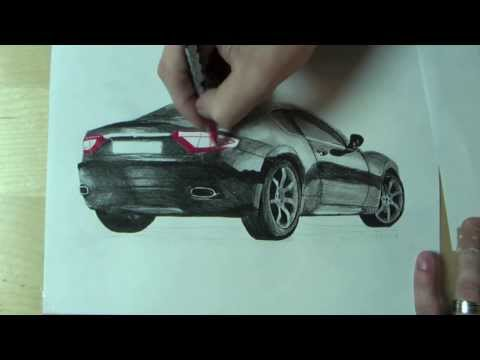 !!! Wie zeichnet man ein Auto // How to draw a car AMAZING !!!