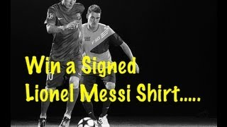 WIN A SIGNED LIONEL MESSI SHIRT - *F2 COMPETITION*
