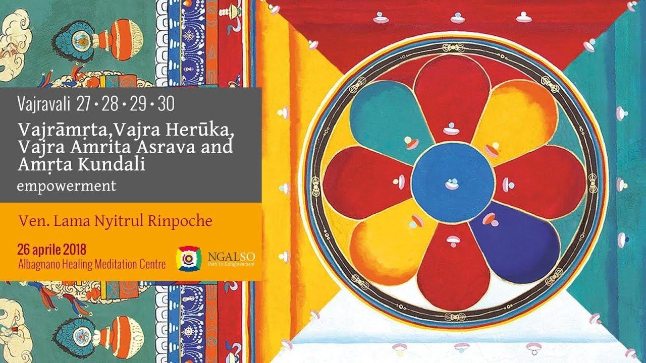 Vajravali 27-28-29-30 - Vajrāmṛta, Vajra Herūka, Vajra Amrita Asrava and Amṛta Kundali empowerment