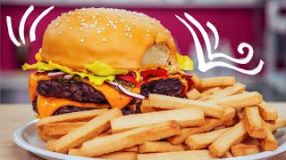 Video How To Make A GIANT CHEESEBURGER & FRIES out of CAKE | Yolanda Gampp | How To Cake It MP3, 3GP, MP4, WEBM, AVI, FLV September 2018