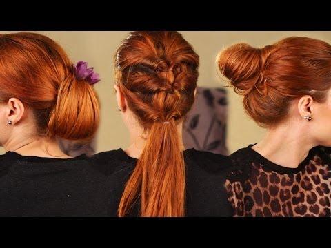 3 účesy z jednoduchého provlékaného culíku! / Ponytail hairstyles