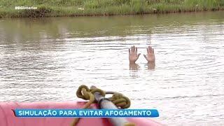 Bauru: simulação para evitar afogamento
