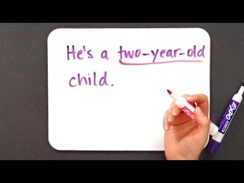 How to Use Hyphens | Grammar Lessons (видео)