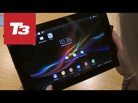 Sony Xperia Tablet Z hands-on preview video
