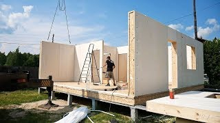 Video German wood-frame house in 3 days with your own hands MP3, 3GP, MP4, WEBM, AVI, FLV Juli 2019