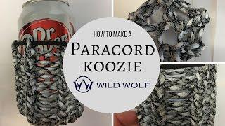 Paracord Koozie Tutorial DIY - 1 Color