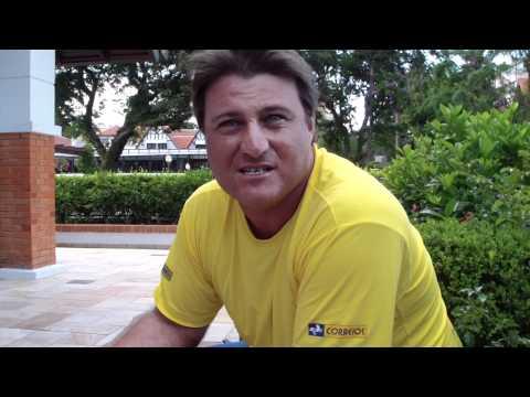 Eduardo Frick explica seu comportamento em quadra na vitória de Vivian Segnini