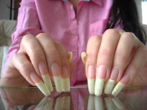 Great natural long fingernails of mamita (video 14)