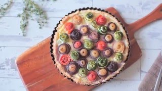 How to Make Veggie Rose Tart