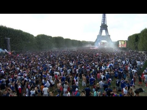 World Cup: Paris Fan Zone Explodes As France Score Fourth Goal