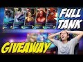 NGAKAK ! SQUAD YOUTUBER FULL TANKER ! GIVEAWAY SKINS - Mobile Legends Indonesia