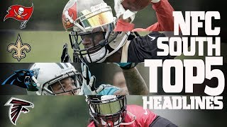 The NFC South Division's top 5 headlines from the offseason heading into this 2017 season. Subscribe to NFL: http://j.mp/1L0bVBuStart your free trial of NFL Game Pass: https://www.nfl.com/gamepass?campaign=sp-nf-gd-ot-yt-3000342Sign up for Fantasy Football! http://www.nfl.com/fantasyfootballThe NFL YouTube channel is your home for immediate in-game highlights from your favorite teams and players, full NFL games, behind the scenes access and more!Check out our other channels:NFL Network http://www.youtube.com/nflnetworkNFL Films http://www.youtube.com/nflfilmsFor all things NFL, visit the league's official website at http://www.nfl.com/Watch NFL Now: https://www.nfl.com/nowListen to NFL podcasts: http://www.nfl.com/podcastsWatch the NFL network: http://nflnonline.nfl.com/Download the NFL mobile app: https://www.nfl.com/apps2016 NFL Schedule: http://www.nfl.com/schedulesBuy tickets to watch your favorite team:  http://www.nfl.com/ticketsShop NFL: http://www.nflshop.com/source/bm-nflcom-Header-Shop-TabLike us on Facebook: https://www.facebook.com/NFLFollow us on Twitter: https://twitter.com/NFLFollow us on Instagram: https://instagram.com/nfl/