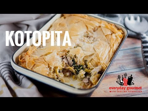 Kotopita – Greek Chicken Pie | Everyday Gourmet S7 E16