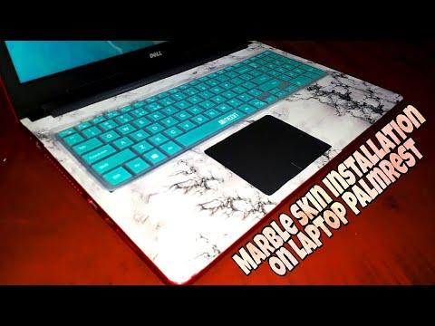 Marble Skin Installation on Laptop Palmrest 😍   Marble laptop skin application   DIY Laptop Skin