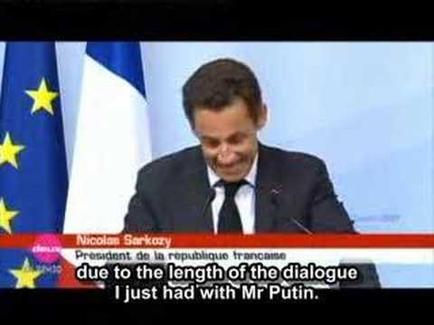 Nicolas Sarkozy drunk? (English)