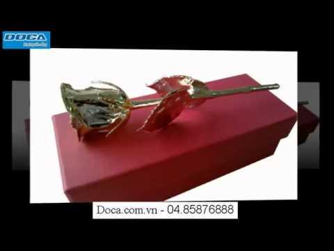 Bông hồng dát vàng Ấn Độ    Quà tặng tình yêu   Doca com vn