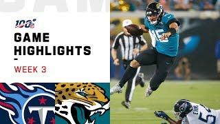 Titans vs. Jaguars Week 3 Highlights   NFL 2019