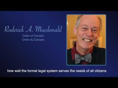 RSC Past President Prof. Roderick A. Macdonald, O.C.
