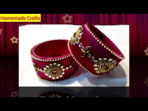 DIY:Designer bridal bangles/silk thread bangles/ by Shriya Patel