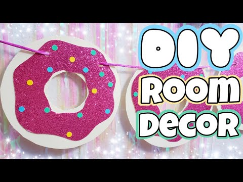 Como hacer DONAS DE CARTULINA 🍩 DIY Room Decor