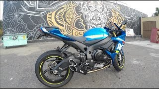8. 2017 GSXR 750 Toce Performance Exhaust vs. OEM Exhaust