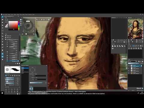 openCanvas 7 beta 50 minute painting timelapse