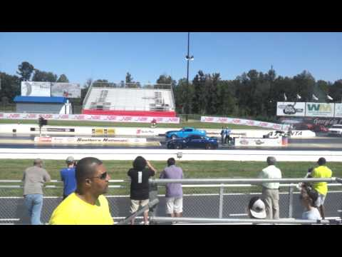 GT-R runs 9's @ 150 at NOPI Nationals vs. GT500