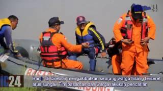 Banjir Cirebon, 1 orang hilang terseret air