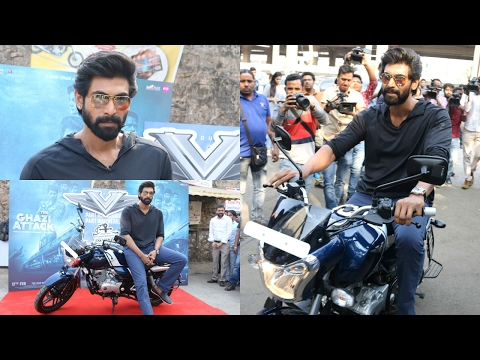"UNCUT : Rana Daggubati Buys The Bajaj V Bike To Promote The Movie ""Ghazi Attack"""