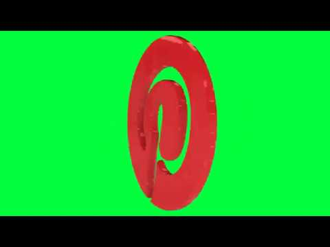 Pinterest Green Screen Logo Loop Chroma Animation