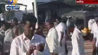 TSRTC Garuda Bus Catches Fire At Yadadri Dist