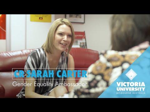 VU alumna - Sarah Carter