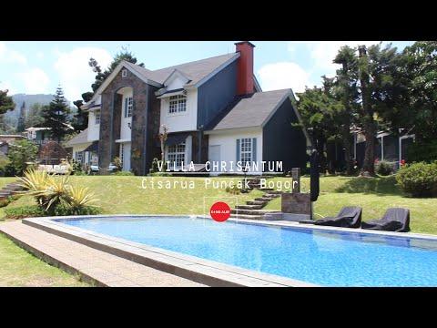 Villa Chrisantum di Puncak Cisarua Bogor Memiliki View Lepas Gunung Pangrango, Halaman Luas&Billiard