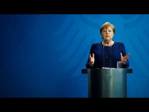, title : 'Kanzlerin Merkel: Beschränkungen bleiben auf jeden Fall bis 19. April'