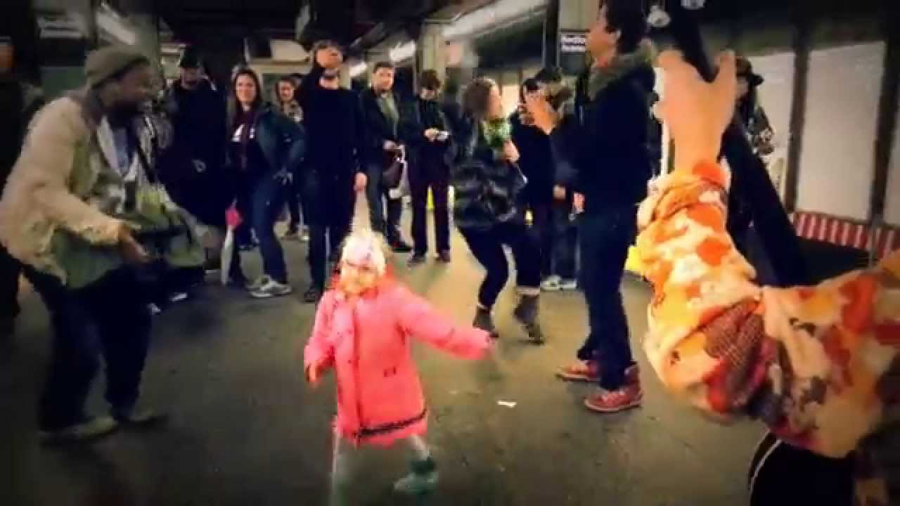 Little Hippie Girl Dancing