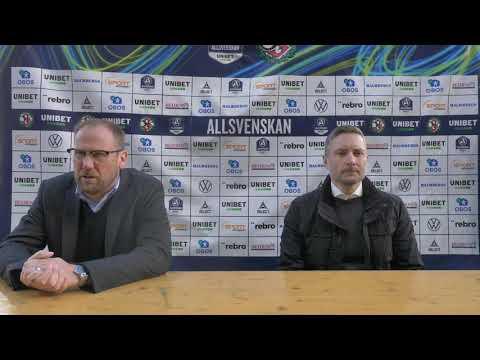 Presskonferens efter ÖSK - Halmstads BK
