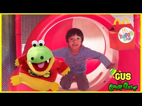 McDonald's + Chuck E Cheese Indoor Play Area with Ryan ToysReview