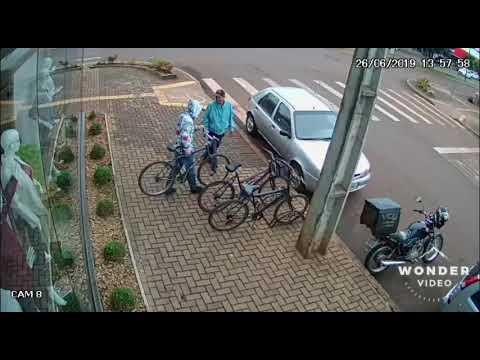 Palotina- Indivíduos roubam padaria no centro da cidade e PM pede auxílio para identificar assaltantes..