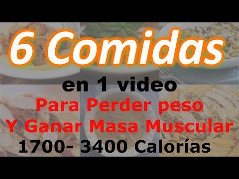 6 Comidas en 1 video Para bajar de peso y Ganar Masa Muscular – 1700-3400 Calorías