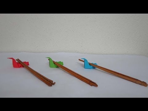 Kitchen Tutorial - 029 -- Crane Chopsticks Rest