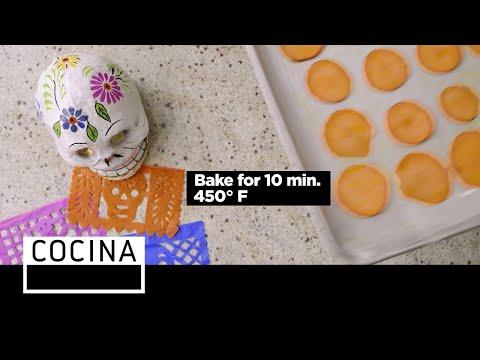 Marigold Sweet Potato Chips (Dia de los Muertos) | Cocina | Appetizers