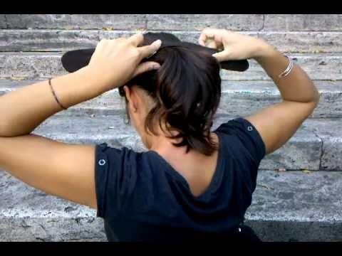 Tutorial - Katrin ci spiega come usare il calzino per capelli - Calzino in testa