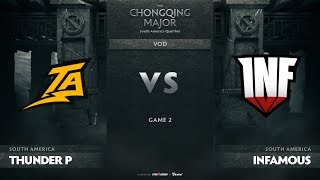 Thunder Predator vs Infamous, Game 2, SA Qualifiers The Chongqing Major