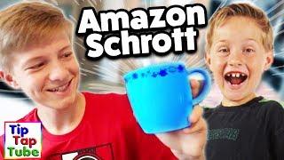 Wir haben ein riesiges Paket vom Amazon Restposten gekauft und packen zusammen den Schrott aus :DSpielzeug Ü Paket Amazon http://amzn.to/2sPFiVT *Trend Artikel Ü Paket Amazon http://amzn.to/2sQ3wiW *Haushaltsartikel Ü Paket Amazon http://amzn.to/2tLJRoE *YouTube Kanäle der Familie:► Ash5ive: https://goo.gl/zv9uKT► Echtso: https://goo.gl/OB8xbM► MaxApps : https://goo.gl/aTXLRv► TipTapTube: https://goo.gl/aBz7Vj► marieland: https://goo.gl/noHjb5-------------------------------------------------------------------------Unsere Ausrüstung► Kameras:Canon DSLR EOS 77D http://amzn.to/2qSF42J *Canon DSLR EOS 750 D http://amzn.to/2r8IIDJ *Canon Objektiv 10-18 mm http://amzn.to/2pEL7UB *Canon Objektiv 18-55 mm http://amzn.to/2rXRvsv *Canon Powershot G7 X Mark II http://amzn.to/2pEACRo *Canon Legria Mini X Canon Powershot SX 600 HS http://amzn.to/2r6Vn9r *Speicherkarte http://amzn.to/2qilxtZ *► Stative:Amazon Basics http://amzn.to/2pENOpe *Joby Gorillapod http://amzn.to/2rHOboD *► Beleuchtung:Studio Leuchten 5500K  http://amzn.to/2r6Wnu2 *► Videobearbeitung:Magix Video Deluxe 2017 http://amzn.to/2r6HKa7 *-------------------------------------------------------------------------Social Media:►Abonnieren: http://www.youtube.com/user/tipTapTube?sub_confirmation=1►Google+: https://plus.google.com/116140844908798504019/posts►Facebook: https://www.facebook.com/TipTapTube►Twitter: https://twitter.com/TipTapTube►Instagram: TipTapTube-------------------------------------------------------------------------►Autogramm-Karten: Bitte schicke uns einen ausreichend frankierten und mit deiner Adresse versehenen Rückumschlag an:►Unsere Post Adresse für BRIEFETipTapTubePostfach 611124122 KielWer eine Autogrammkarte haben möchte: Du brauchst 2 Briefumschläge und 2 Briefmarken: Auf Umschlag 1 schreibt du vorne leserlich deine Adresse drauf, und eine Briefmarke drauf (Briefporto).Diesen Umschlag bitte gefaltet (nicht zukleben!) in den zweiten Umschlag stecken. Auf den zweiten Umschlag bitte unsere Post