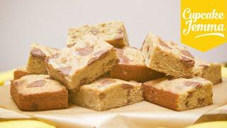 Banana & Milk Chocolate Blondie Recipe | Cupcake Jemma by Cupcake Jemma